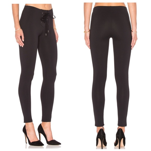 7e972fe50837d David Lerner Pants | Lace Up Leggings Classic Black | Poshmark